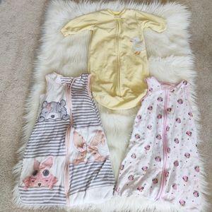 Disney, Willow and Fleece Baby sleep sack bundle